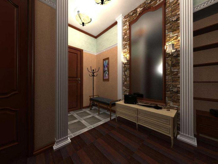 Фото дизайн прихожей с большим зеркалом